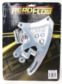 <strong>Billet Aluminium Power Steering Bracket </strong><br />Suit 302-351C, Mid mount passenger side with Saginaw pump, Polished finish