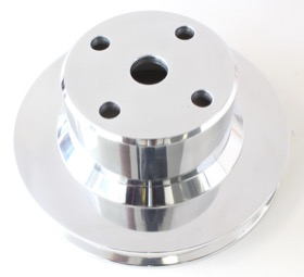 <strong>Billet Water Pump Pulley</strong><br />Single V groove, suit Holden 5.0 V8 VN-VS with large bearing water pump, Polished