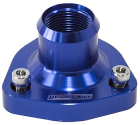 <strong>Billet Thermostat Housing - Blue</strong><br /> Suits all Nissan/Holden RB Engines