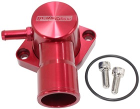 <strong>Billet Aluminium Swivel Thermostat Housing - Red Finish</strong> <br />Suit Ford Falcon EF-FG 6 Cyl. 2005-on