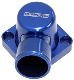 <strong>Billet Thermostat Housing - Blue Finish</strong><br />Suit Big Block Ford 429-460
