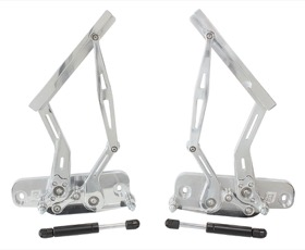 <strong>Billet Bonnet Hinge Kit - Polished Finish</strong> <br />Suits Holden Torana LC-LJ