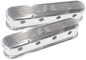 <strong>Billet Aluminium Retro 2-Piece Valve Covers </strong><br /> Polished Finish, Suit LS Series With LS2 or LS3 Coil Mount