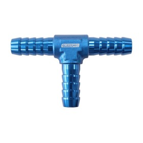 <strong>Aluminium Barb T-Piece - Blue</strong><br /> 3/16