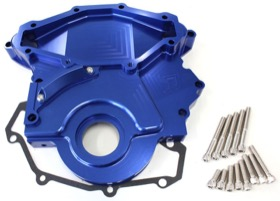 <strong>Billet Timing Cover </strong><br /> Blue Finish. Suit Holden 253-304-308