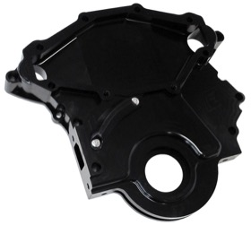 <strong>Billet Timing Cover </strong><br /> Black Finish. Suit Holden 253-304-308