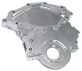 <strong>Billet Timing Cover </strong><br /> Silver Finish. Suit Holden 253-304-308