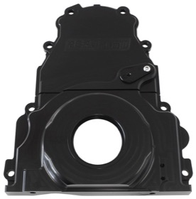 <strong>2-Piece Billet Aluminium Timing Cover - Black Finish</strong><br /> Suit GM LS Series. Includes Mounting Hardware and Cam Sensor Plug