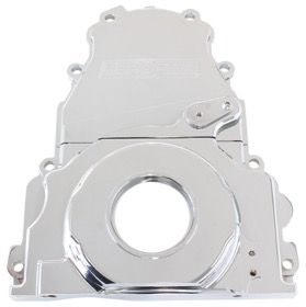 <strong>2-Piece Billet Aluminium Timing Cover - Chrome Finish</strong><br /> Suit GM LS Series. Includes Mounting Hardware and Cam Sensor Plug