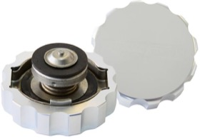 <strong>Billet Radiator Cap Large Style suit 42mm Water Neck</strong><br /> Silver Finish.