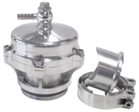 <strong>50mm Blow Off Valve with Weld-on Flange and V-Band</strong><br />Polished Finish.