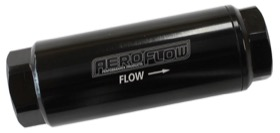 AEROFLOW PRO FILTER 10 MICRON BLACK FEMALE -8 ORB 1.25