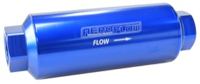 <strong>100 Micron Pro Filter with -12AN ORB Ports</strong> <br />Blue Finish. 7&quot; x 2-1/2&quot;