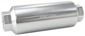 "<strong>40 Micron Pro Filter with -12AN ORB Ports</strong> <br /> Silver Finish. 5-1/2"" x 2"""