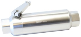 "<strong>60 Micron Pro Filter with Ball Valve - Silver </strong><br />-12 ORB Ports. 5.5"" x 2"""