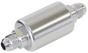 <strong>Billet Fuel Filter -6AN</strong><br />40 micron Stainless Steel element, 1.25