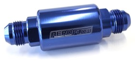 <strong>Billet Fuel Filter -8AN</strong><br />40 micron Stainless Steel element, 1.25