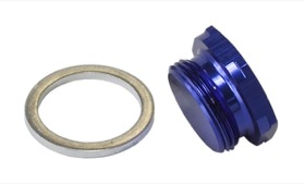 <strong>Holley Fuel Bowl Inlet Blank Plug</strong> <br />Blue finish, 7/8