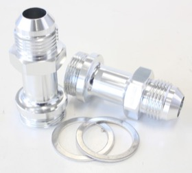 "<strong>Carburettor Adapter - Male 7/8"" x 20 to -8AN </strong><br />Silver Finish. Suit Holley Inlet Feed"