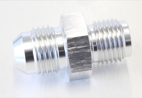 <strong>Inverted Seat Adapter 1/2&quot;-20 to -6AN</strong> <br />Silver Finish