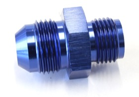 "<strong>Inverted Seat Adapter 5/8""-18 to -8AN</strong> <br />Blue Finish"
