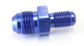 "<strong>Inverted Seat Adapter 3/8""-24 to -6AN</strong> <br />Blue Finish"