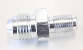 "<strong>Inverted Seat Adapter 3/8""-24 to -6AN</strong> <br />Silver Finish"