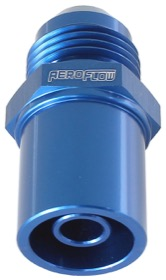 <strong>Push In Front Valve Cover Breather Adaptor -8AN Blue</strong><br />Suit BA-FG Ford Falcon