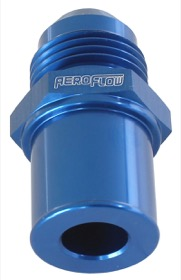 <strong>Push In Rear Valve Cover Breather Adaptor -8AN Blue</strong><br />Suit BA-FG Ford Falcon