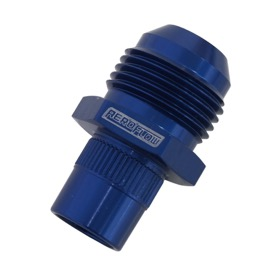 <strong>Breather Adapters -10AN</strong><br /> Press in for Nissan Valve Covers with non-threaded hole, Blue