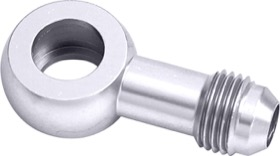 <strong>Alloy AN Banjo Fitting 10mm to -6AN</strong> <br />Silver Finish