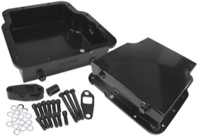 "<strong>3.25"" Deep Fabricated Transmission Pan including Filter Extension </strong><br /> Black Finish. Suit Holden Trimatic"