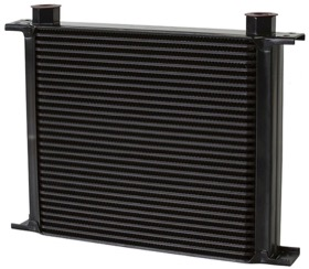 <strong>Engine Oil or Transmission Oil Cooler </strong><br />330mm L x 265mm H x 51mm D. -10 Female ORB Threads.