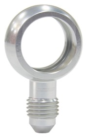 Alloy AN Banjo Fitting 18mm  to -4AN Silver