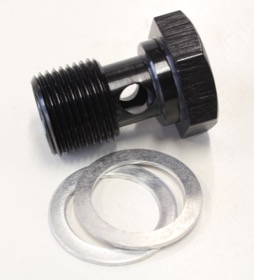 <strong>Alloy Banjo Bolt 5/8&quot; x 20</strong><br /> Black Finish