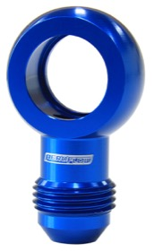 Alloy AN Banjo Fitting 18mm  to -8AN Blue