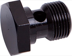 "<strong>Alloy Banjo Bolt 1/2"" x 20 UNF</strong> <br />Black Finish"