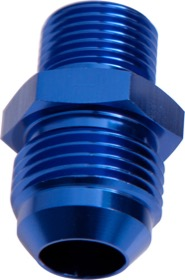<strong>Metric to Male Flare Adapter M16 x 1.5mm to -8AN </strong><br />Blue Finish