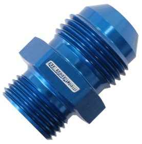 <strong>BSPP Washer Seal To AN Male Adapter</strong><br /> 3/8&quot; to -10AN, Blue Finish