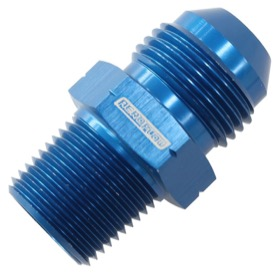 "<strong>BSPP Tapered To AN Male Adapter</strong><br /> 1/8"" to -6AN, Blue Finish"