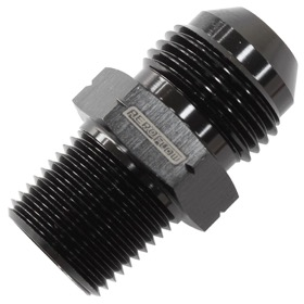 "<strong>BSPP Tapered To AN Male Adapter</strong><br /> 1/8"" to -6AN, Black Finish"