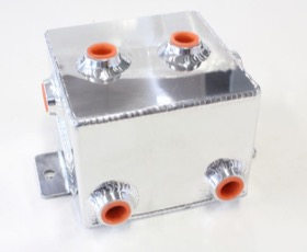 <strong>Universal Fabricated Alloy Tank</strong><br /> 1.4L capacity, 5&quot; L x 5&quot; W x 4&quot;, Polished finish