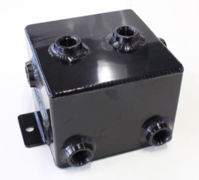 <strong>Universal Fabricated Alloy Tank</strong><br /> 1.4L capacity, 5&quot; L x 5&quot; W x 4&quot;, Black finish