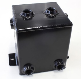 <strong>Universal Fabricated Alloy Tank</strong><br /> 2.2L capacity, 5&quot; L x 5&quot; W x 6&quot;, Black finish