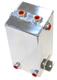 <strong>Universal Fabricated Alloy Tank</strong><br /> 4L capacity, 5&quot; L x 5&quot; W x 10.5&quot;, Polished finish