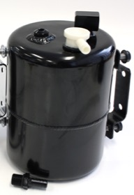 <strong>Brake Vacuum Reservoir Tank - Black </strong><br />Includes Mounts & Fittings. 6.75&quot; (170mm) Tall x 5&quot; (125mm) Long