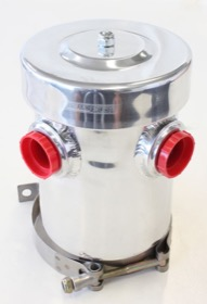 "<strong>Dry Sump / Breather Tank - Polished</strong><br />  2 x -12 and 1 x -6 ORB Ports. 4.5"" (115mm) Width x 6.5"" (165mm) Height"