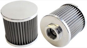 <strong>Stainless Steel Billet Breather with -12AN Female Thread</strong><br /> Polished Finish.