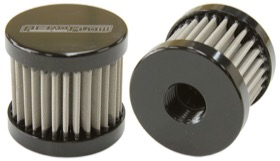 <strong>Stainless Steel Billet Breather with -6AN Female Thread</strong><br /> Black Finish.