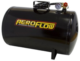 <strong>10 Gallon Steel Portable Air Tank - Black (125 PSI Max)</strong><br /> Includes Valve, Air Line & Pressure Gauge.